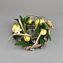 Ratanový svietnik na čajovú sviečku Rosita, 16 x 9 cm