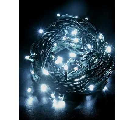 Vánoční řetěz Solight 60 LED 10 m 1V01-W bílý