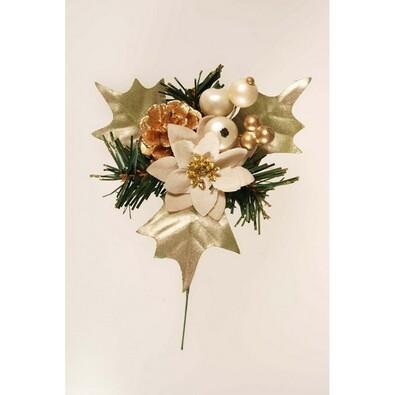 Umělá dekorace Poinsettie, v. 20 cm, sada 3 ks