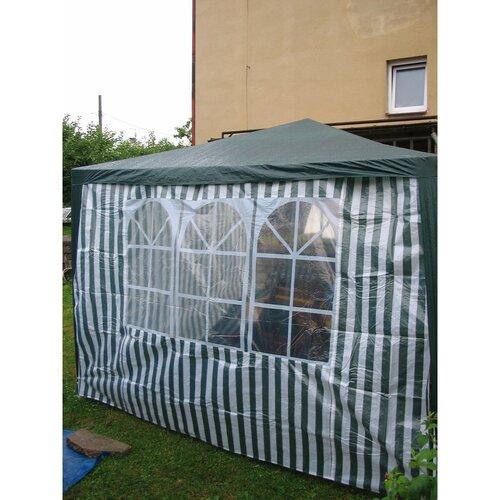 Bočnice zahradního stanu s oknem s pruhy