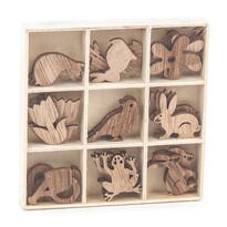 Sada drevených dekorácií Zvieratká, 27 ks