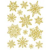 Vánoční okenní sada 2 ks zlatá