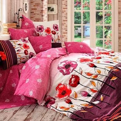 Bavlněné povlečení Amanda lila, 140 x 220 cm, 70 x 90 cm