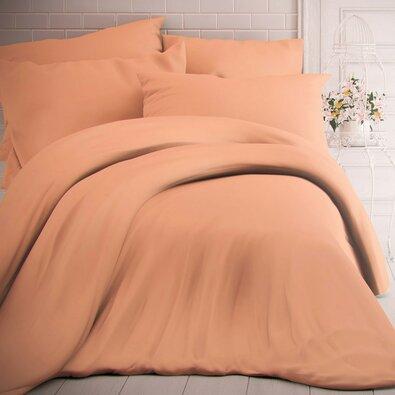 Kvalitex Bavlnené obliečky lososová, 240 x 200 cm, 2 ks 70 x 90 cm
