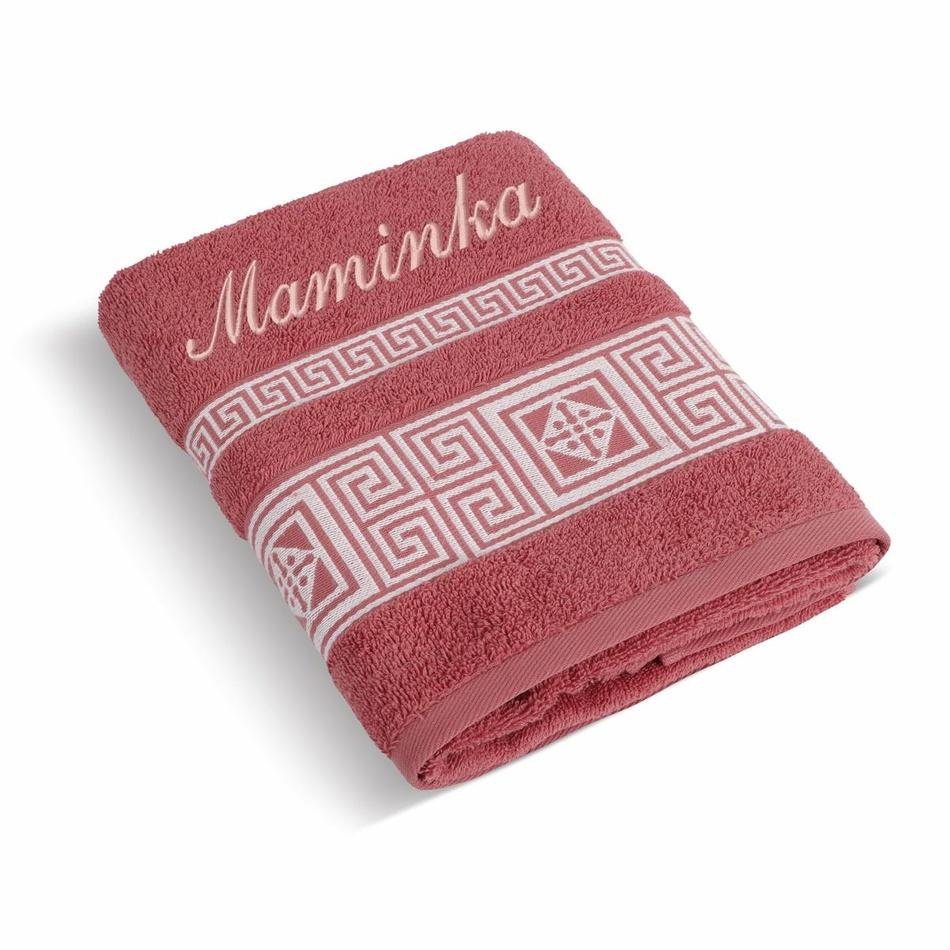Bellatex Froté ručník 50x100 řecká kolekce 155/062 s výšivkou Maminka