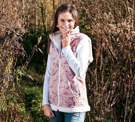 Dámská vesta, růžová, L