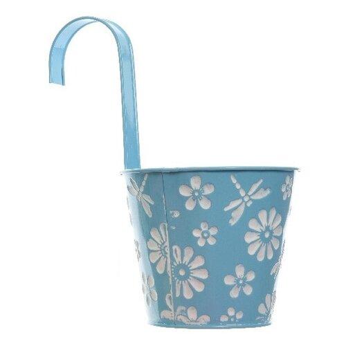Závěsný květináč Flowers modrá, pr. 14 cm