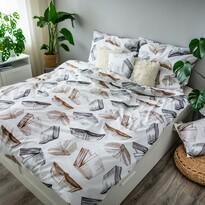 Bavlněné povlečení Books, 140 x 200 cm, 70 x 90 cm, 40 x 40 cm