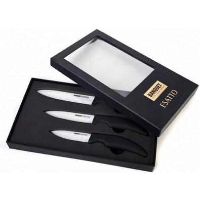 ESATTO 3dílná sada keramických nožů