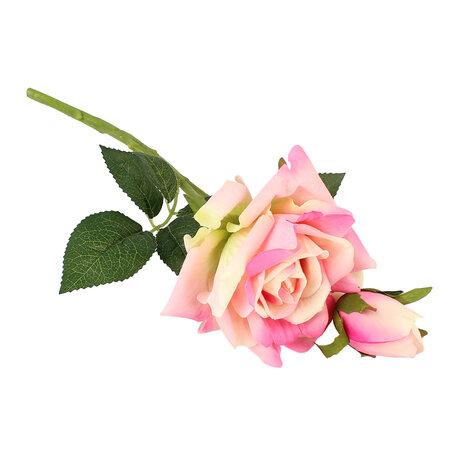 Sztuczna kwitnąca Róża z pąkiem