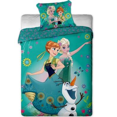Dětské bavlněné povlečení Ledové Království Frozen green, 140 x 200 cm, 70 x 90 cm
