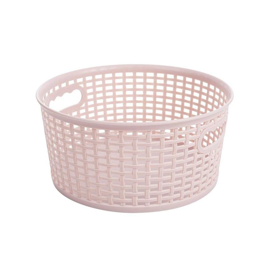 Okrúhly košík RATTAN CLASSIC 4,5 l, ružová