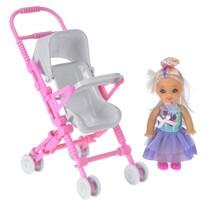 Játékbaba babakocsival