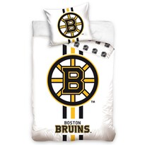 Lenjerie de pat NHL Boston Bruins White, din bumbac, 140 x 200 cm, 70 x 90 cm