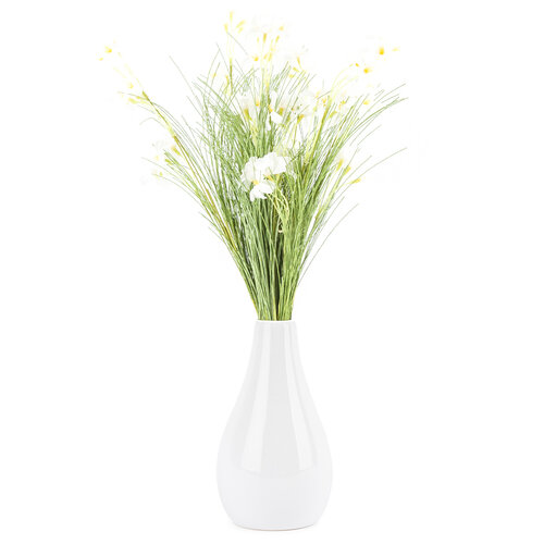 Umělé luční květy 51 cm, bílá