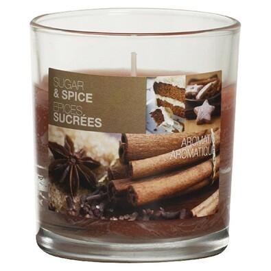 Svíčka Sugar & Spiece, 8 x 7,2 cm, Bolsius, hnědá