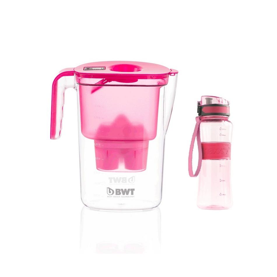 BWT Filterační konvice Vida 2,6 l, růžová + dárek  outdoor sportovní láhev