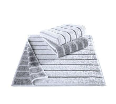 Ručník Tonic Cawö bílý, 50 x 100 cm, sada 3 ks, bílá, 50 x 100 cm