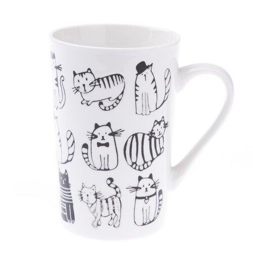 Porcelánový hrnček Mačky 450 ml