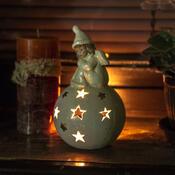 Vánoční svícen s andílkem