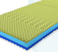 Sendvičová  matrace z viskoelastické pěny Viscofoa, 85 x 195 cm