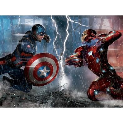 Detská fototapeta XXL Captain America a Iron Man 360 x 270 cm, 4 diely