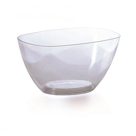 Coubi dekoratív tál, átlátszó, 20 cm