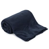 Fleecová deka UNI tmavomodrá, 150 x 200 cm