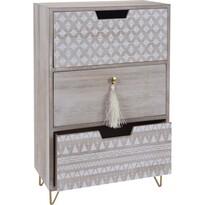 Szafka dekoracyjna Nordic, 3 szuflady 25 x 14 x 39 cm
