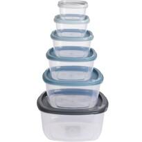 6dílná sada plastových dóz