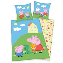 Lenjerie de pat copii, din bumbac, Peppa Pig Play, 140 x 200 cm, 70 x 90 cm