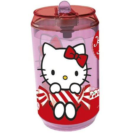 Banquet Hello Kitty Fľaša so slamkou,