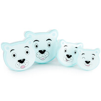 4dílná sada svačinových dóz Bear, modrá