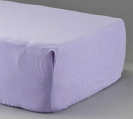 Prostěradlo žerzej, violet, 90 x 200 cm
