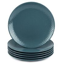 Orion Zestaw talerzy płaskich Relief śr. 27,5 cm, petrol blue, 6 szt.