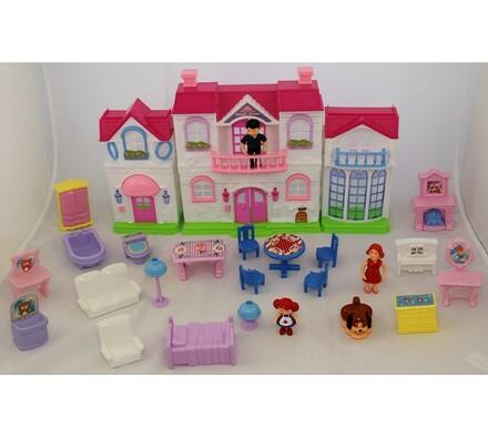 Domeček pro panenky, vícebarevná