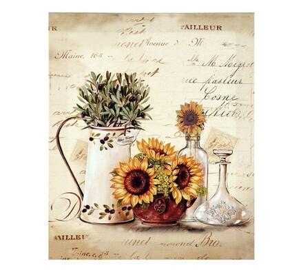 Obraz zátiší slunečnice, vícebarevná, 25 x 30 cm