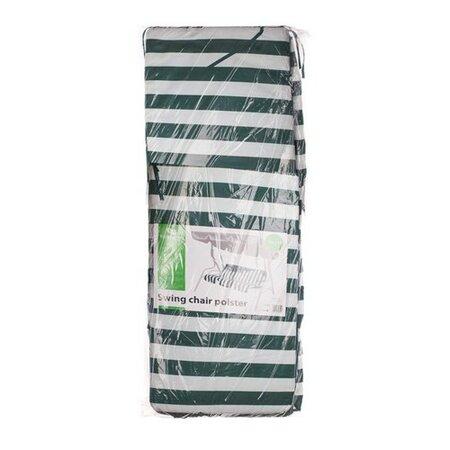 Polstr na houpačku Stripy, zelený pruh