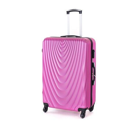 Pretty UP Cestovní skořepinový kufr ABS07 L, fialová