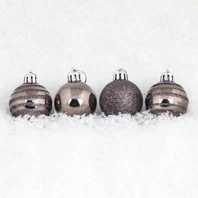 Vánoční koule 15 ks tmavě měděná