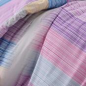 Bavlněné povlečení Karo fialová, 220 x 200 cm, 2 ks 70 x 90 cm