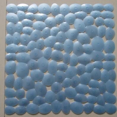 Protiskluzová podložka do sprchy Stone modrá, 54 x 54 cm