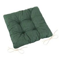 Sedák Adéla prošívaný Uni tmavě zelená, 40 x 40 cm
