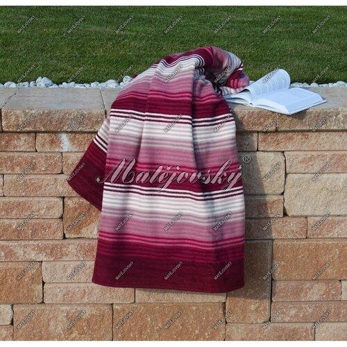 Matějovský bavlnená deka Summer vínová, 160 x 220 cm