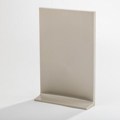 Zahnuté prkénko Curv 23 x 35 cm, šedé
