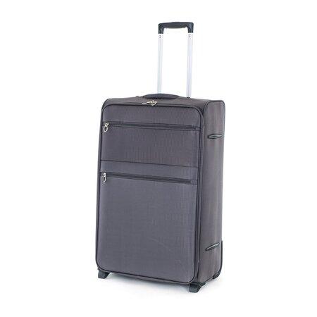 Pretty UP Cestovní textilní kufr TEX15 L, šedá
