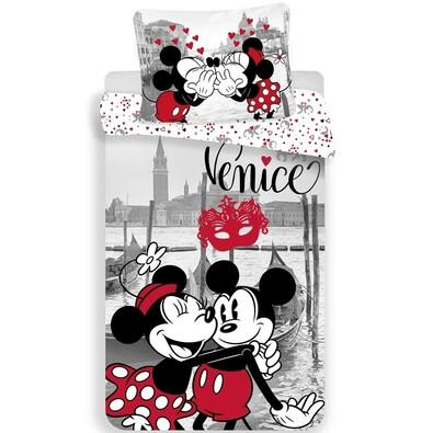 Detské bavlnené obliečky Mickey and Minnie in Venice, 140 x 200 cm, 70 x 90 cm