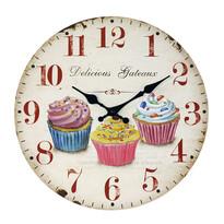 Zegar ścienny Cupcake, śr. 34 cm