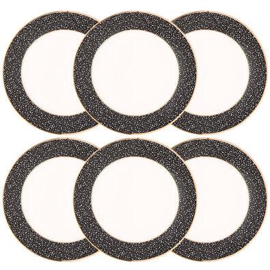 Farfurii desert Altom Granit 20 cm, 6 piese, negru