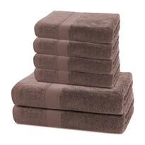 DecoKing Komplet ręczników Marina ciemnobrązowy, 4 szt. 50 x 100 cm, 2 szt. 70 x 140 cm